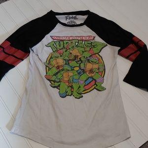 MightyFine Teenage Mutant Ninja Turtles raglan tee
